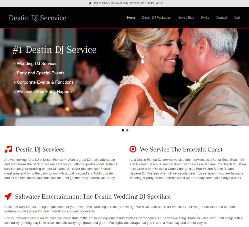 Destin-DJ-Service-Website